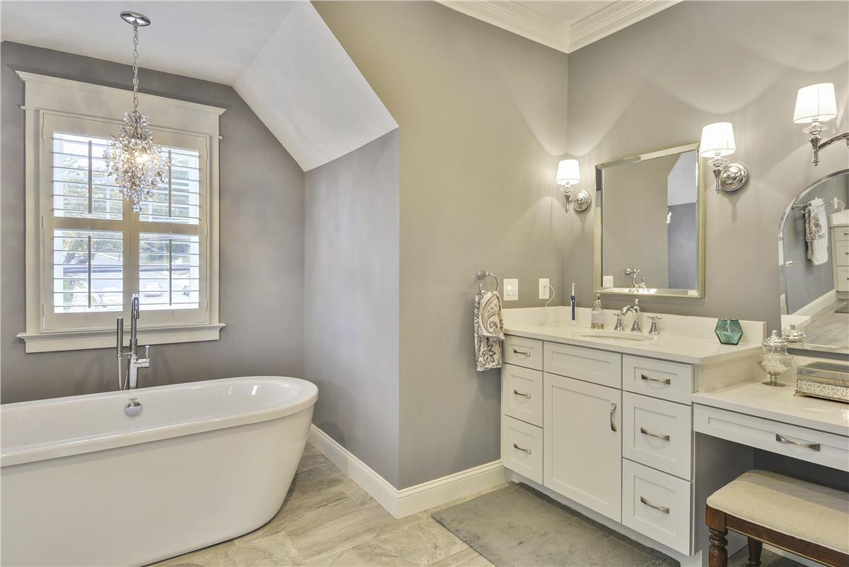 Should you pick the same finishes for all your bathrooms for Model bathrooms photos
