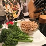 Jen In The Kitchen: Cacio e Pepe Broccolini with Crispy White Beans and Burrata